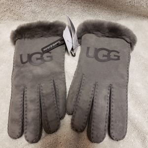 Brand New UGG leather and fur gloves.